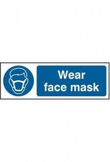 BSS11389 Wear Face Mask Sign PVC Version