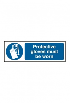 BSS11392 Protective Gloves Must Be Worn Sign Vinyl Version
