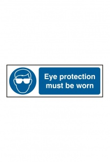 BSS11396 Eye Protection Must Be Worn Sign Vinyl Version