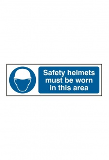 BSS11408 Safety Helmets Must Be Worn Sign Vinyl Version
