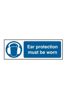 BSS11404 Ear Protection Must Be Worn Sign Vinyl Version