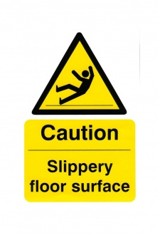 BSS11039 Caution Slippery Floor Surface Vinyl Version
