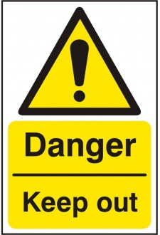 BSS11228 Danger Keep Out Sign PVC Version