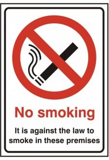 BSS1185 No Smoking Sign PVC Version