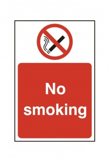 BSS11811 No Smoking Sign PVC Version