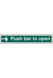 BSS12141 Push Bar To Open Sign PVC Version