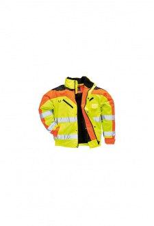 S464 Contrast Plus Bomber Jacket (Small To 3XL)