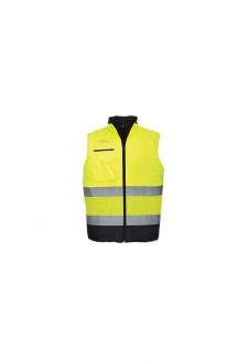 S267 Hi-Vis Two Tone Bodywarmer (Small To 3XL)