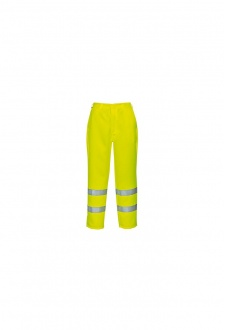 E041 Hi-Vis Poly-Cotton Trousers (31 Reg To 33 Tall)