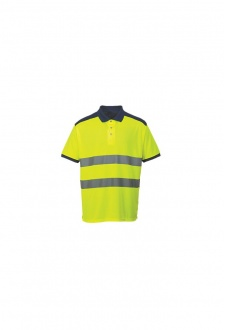 S379 Hi-Vis Contrast Polo Shirt (Medium To 3XL)