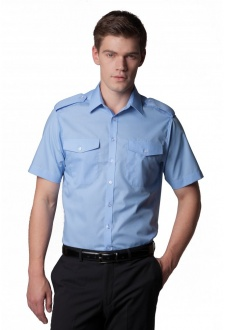 KK133 Pilot Shirt Short Sleeved  (Collar Size 14.4 To 19.5)
