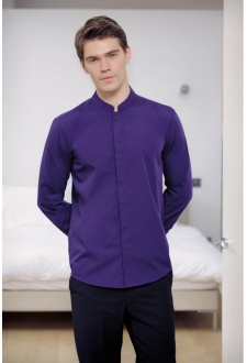 KK161 Mandarin Collar Fitted Long Sleeved Shirt  (S To 2XL)