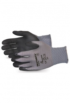 EN388 4141  Abrasion level 4 Dexterity Glove Black Widow