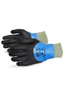 EN388 4542 Cut Level 5  Kevlar / Wire Micropore Nitrile Coated Glove