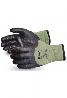 EN388 4542 Cut Level 5  Kevlar / Steel PVC Palm Winter Glove