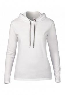 AV182 Womens Fashion Basic Long Sleeed Hooded T-Shirt (small To 2XL)