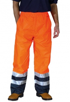 YK072 Hi-Vis Waterproof OverTrousers (Small To 3XL)