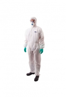 ST35 BizTex SMS Coverall With Knitted Cuff Type 5/6 (Medium to 2Xlarge) Box of 50