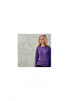 JH045 Girlie Heather SweatShirt (XSmall To XL)