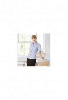 HB556 Womens Short Sleeved LightWeight Oxford Shirt (XSmall To 3XL)