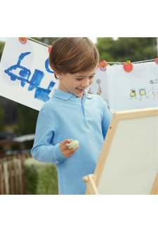 SS320 Kids Long Sleeve 65/35 Polo