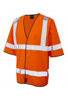 S02-O Gorwell Orange Half Sleeve Hi Vis Vests (Small To 4XL)