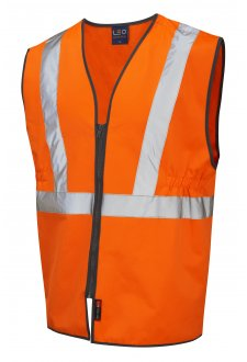 W16-O Copplestone Railway Hi Vis Vests GO/RT (Small To 3XL)