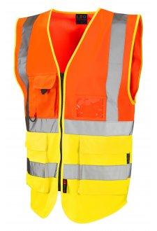 W11-O/Y Lynton Orange Yellow Hi Vis Vests (Small To 6XL)