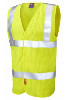 W19-Y Flame Retardent Anti Static Yellow Hi Vis Vests (Small To 6XL)