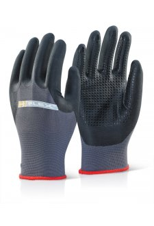 EN388 4131 Nitrile PU Mix Dotted Glove (Pack size 100)