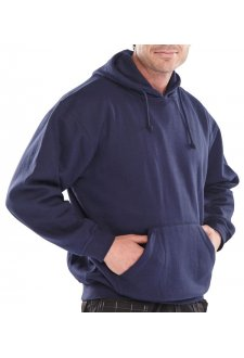 Fleece Lined Poly Cotton Hoody (Small to 3Xlarge)