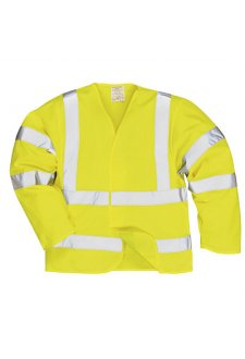 FR73 Flame Resistant Yellow Hi Vis Long Sleeved Vests (Small To 3XL)