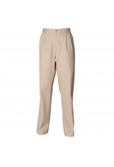 HB600 Teflon Coated Pleated Chino Trousers Stone