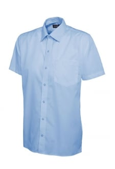 UC710 Mens Poplin Half Sleeve Shirt  (Collar Size 14.5 To 19.5)
