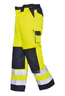 TX51YN Lyon Hivis Trousers (Small To 2XL) Yellow/Navy