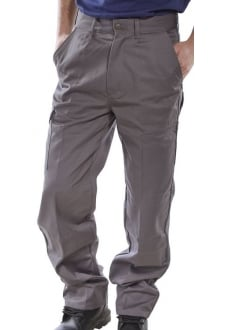 PCT9G Click Grey Heavyweight 9oz Polycotton Work Wear Trouser