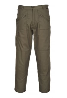 S887OG Action Trousers Olive Green