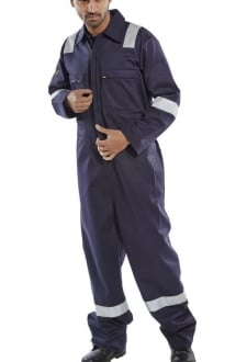 CFRASSBBSN Burgan FR/AS LightWeight Boiler Suit Navy (SmallTo6XL)