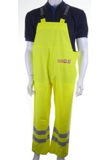 CFRLR59SY Click FR/AS WaterProog Bib Trousers - Yellow - (Small To 4XL)