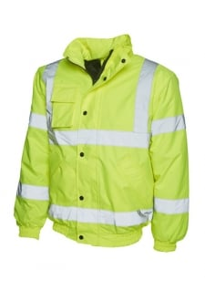 UC804 Hi Vis Bomber Jacket (Small To 4XL)