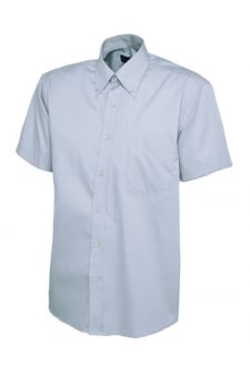 uc702 Mens Pinpoint Short Sleeved Oxford Shirt (Collar Size 14.5 To 19.5)