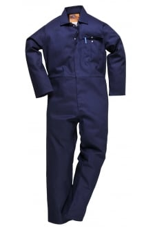 C030NV CE Safe-Welder Coverall Flame Resistant Navy (Reg)