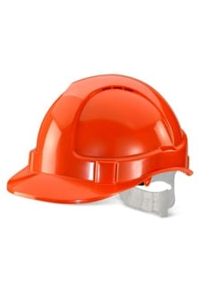 BBVSHOR Orange B-Brand Vented Safety Helmet (OneSize)