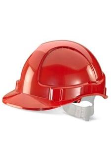 BBEVR Red B-Brand Economy Vented Safety Helmet (OneSize)