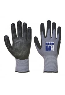 Dermiflex plus PU Nitrile Foam Dotted Palm Glove (pack size 10)