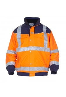 FURTH VI VIS PILOT JACKET ORANGE NAVY  (SMALL TO 3XLARGE)