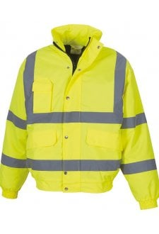 YK043 Hi-Vis Classic Bomber Jacket (Small To 3XL)