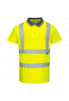 S477 Hi-Vis Short Sleeved Polo (XSmall To 5XL)