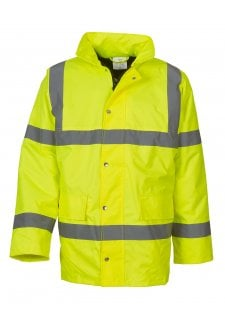 YK045 Hi-Vis Classic Motorway Jacket (Small To 3XL)
