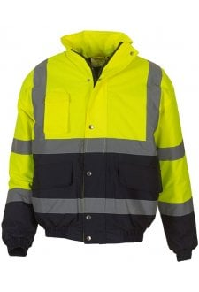 YK044 Hi-Vis 2-Tone Bomber Jacket (Small To 3XL)